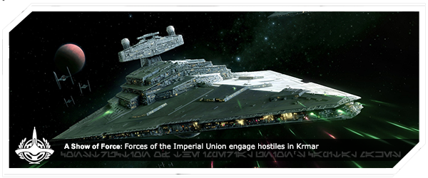 Forces of the Imperial Union engage hostiles in Krmar
